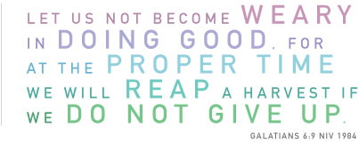 Galatians 6:9, Galations, grow weary in doing good